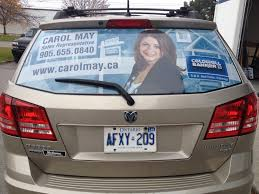 Great New Rear Window Perforated Vinyl Graphics Completed For Carol May Of Coldwell Banker R M R Real Estate Broker Vinyl Graphics Business Graphics Car Wrap