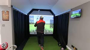 golf simulator skytrak installation in