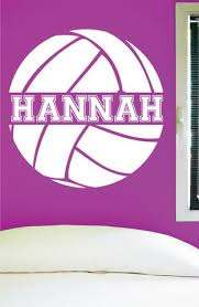 Custom Volleyball Wall Decal 0058 Personalized Volleyball Wall Decal Wall Decal Studios Com