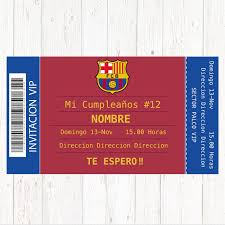Invitacion Barcelona Tarjeta Cumpleanos Barcelona Tarjeta
