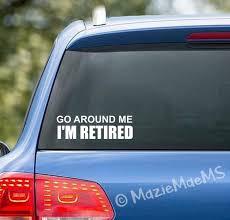 Retired Custom Car Window Sticker Car Decal Car Sticker Etsy