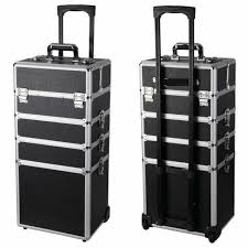 rolling makeup case with drawers pro 3