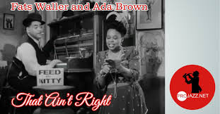 """ProJazz on Twitter: """"Fats Waller and Ada Brown – That Ain't Right ..."""