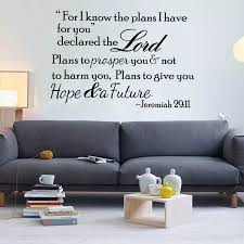 Bible Verse Wall Decals Quotes Jeremiah 29 11 Bible Vinyl Wall Stickers Scripture Art Home Room Decoration Removable Mural Z710 Wall Stickers Aliexpress