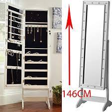 storage floor bedroom light box mirror