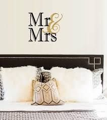 Amazon Com Bestpriceddecals Mr And Mrs Wall Or Window Decal 13 X 18 Black Gold Home Kitchen