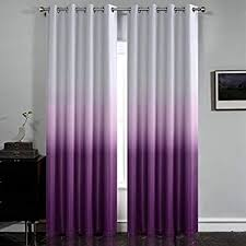 Amazon Com Simplehome Gradient Color Ombre Room Darkening Curtains Blackout Purple Thermal Insulated Eyelet T In 2020 Purple Curtains Curtains Purple Curtains Bedroom