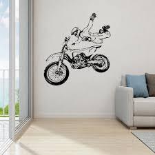 Moto Sportcar Military Wall Decal For Man Boys Wall Sticker Kids Wall Decal Bedroom Gift Wall Sticke Wl1152 Wall Stickers Aliexpress