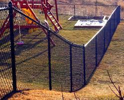 6 Black Vinyl Coated Chain Link Fence Mn Fence Companymn Fence Company