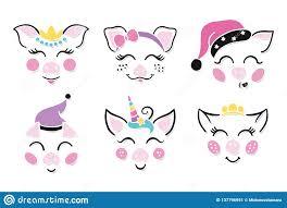 Cerdo Mezclado Y Unicornio Ilustracion Del Vector Ilustracion De