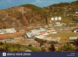 Devastated National Stadium of Grenada six months after hurricane Stock  Photo - Alamy