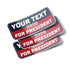 Custom Make America Great Again Bumper Sticker Decals 3 Pack
