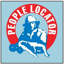Fire Rescue People Locator Window Decal