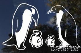 Penguin Family Decal