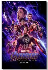 Custom Printing Canvas Decor Marvel Infinity War Endgame Poster Superheroes Avengers Endgame Stickers Home Room Wall Arts 0314 Superhero Wallpaper Kids Roompanther Posters Aliexpress