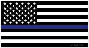 La Police Gear Thin Blue Line Us Flag Decal