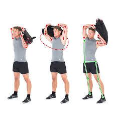 sandbag exercise around the head