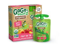 gogo squeez organic applepeach