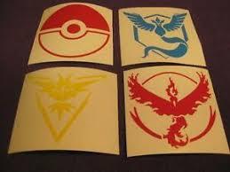 Pokemon Go Team Mystic Valor Instinct Pokeball Custom Vinyl Decal Stickers Ebay