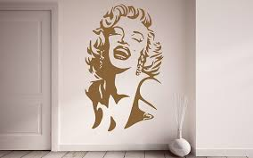 Marilyn Monroe Portrait Wall Decal Monroe Design Shop