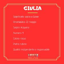 Giulia: significato, caratteristiche, personalità e curiosità del ...
