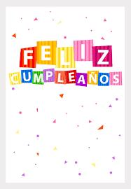 Tarjetas De Confetti De Cumpleanos Para Imprimir Feliz