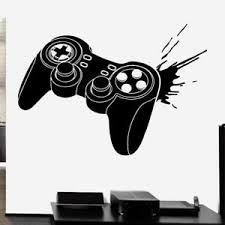 Gamer Controller Splat Vinyl Wall Decal Sticker Boys Room Xbox One Ps4 Game Ebay