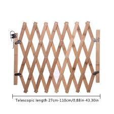 Folding Dog Cat Pet Fence Wooden Safety Gate Indoor And Outdoor Protection Retractable Dog Sliding Door Wooden Fence Dog Doors Ramps Aliexpress