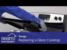 replacing a range glass cooktop you