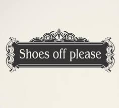 Shoes Off Please Wall Decal 9 95 Arise Decals