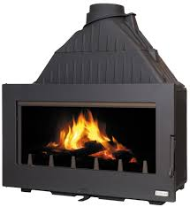 in wood burning fireplace insert