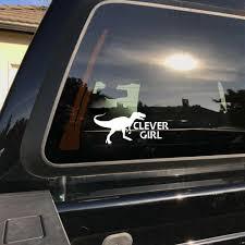 Truck Car Clever Girl Blue Velociraptor 8inch Vinyl Decal Sticker For Window