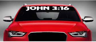 Amazon Com Noizy Graphics 40 X 4 John 3 16 2 Christian Car Windshield Sticker Truck Window Vinyl Decal Color White Automotive