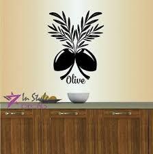 Vinyl Decal Olive Branch Olives Kitchen Dining Room Wall Decor Sticker 834 Ebay