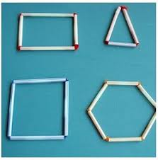 Image result for using straws to make 2D shapes