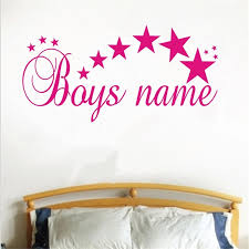 2018 Sale Wall Stickers Stars Text Custom Kids Name Home Decor Wall Sticker Nursery Room Personalized Removable Art Decals L01 Wall Stickers Aliexpress