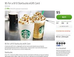 10 gift card for 5 on groupon