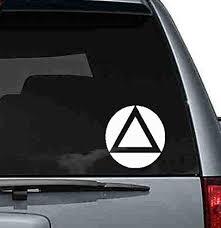 Amazon Com Byron Hoyle Aa Symbol Car Decal Aa Car Sticker Alcoholics Anonymous Window Sticker Aa Bumper Sticker Logo Home Kitchen