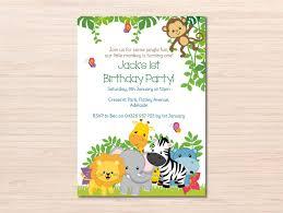 Jungle Birthday Jungle Invitation Birthday Invitation Jungle