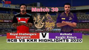 Match 39 - KKR vs RCB Highlights 2020 ...