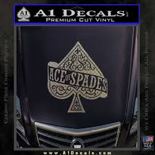 Ace Of Spades Intricate Decal Sticker A1 Decals