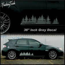 Subaru Decal Custom Vinyl Door Graphic Forest Silhouette Tree Subaru Vinyl Forest Silhouette
