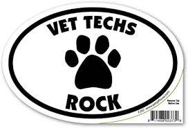 Amazon Com Pet Gifts Usa Vet Techs Rock Magnet Automotive