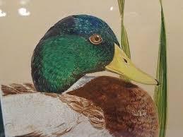 Original Watercolor by Ericka Smith DeLong Duck Figure Decoy   #1617000848