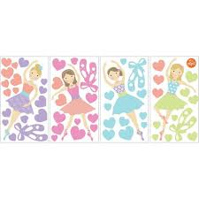 Wall Pops Multi Color Prima Ballerina Wall Decal Wpk2575 The Home Depot
