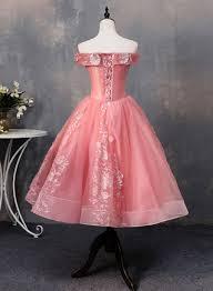 Pink tulle applique short prom dress, pink evening dress – trendty