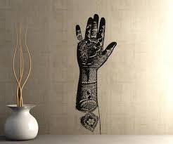 Vinyl Wall Decal Sticker Henna Tattooed Hand Os Aa385 Stickerbrand