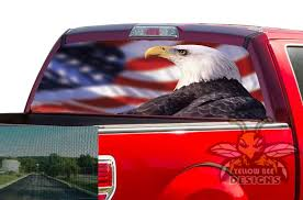 Usa Eagle Rear Window Decals Perforated Vinyl Ford F150