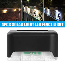 Pack Of 4 Solar Power Led Fence Light Rock Lamp Waterproof Outdoor Garden Stake Lamp Decor Shopee Philippines