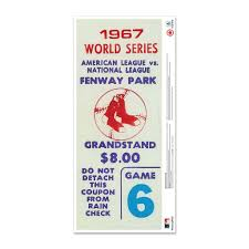 Mustang Products Boston Red Sox 1967 World Series Ticket Stub Wall Decal Wayfair